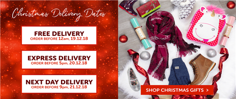 Delivery Dates/Christmas Shop