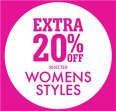 Extra 20% off Selected Womens Styles