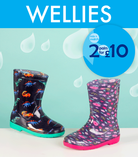 2 for £10 Wellies