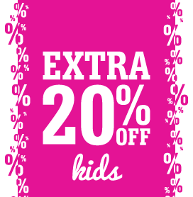 Kids' Shoes Further Reductions – Extra 20% Off