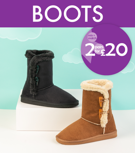 2 for £20 Fur Boots