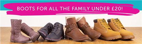 Boots for all the family under £20
