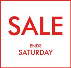 Winter Sale Ends Saturday