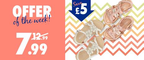 Save £5 on Girls Sandals
