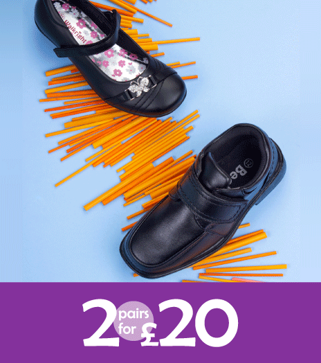 2 for £20 School Shoes