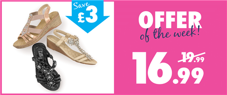 Save £3 on Womens Wedges
