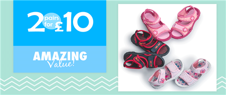 4e6020d82be 2 for £10 Kids Sandals
