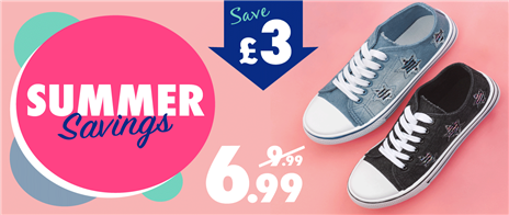 Save £3 on Selected Womens Canvas