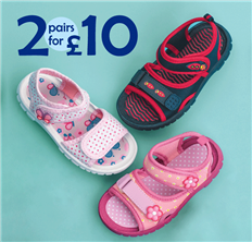 2 for £10 Kids Sandals