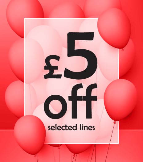£5 off Selected Lines
