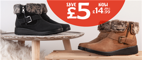 Save £5 on selected womens boots