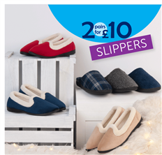 2 for £10 Slippers