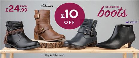 £10 off selected boots