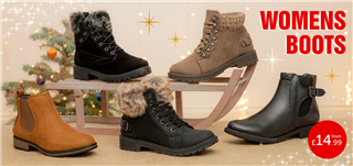 Womens Boots from £14.99