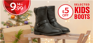 £5 off Selected Kids Boots